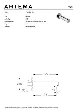 Tanım Pure Çıkı Ucu Kod :A40682 Aırlık (kg) :0.82 Çalıma