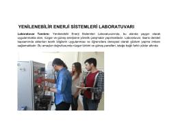 yenilenebilir enerji sistemleri laboratuvarı