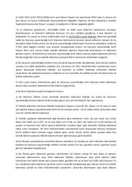 11 Eylül 2014 tarihli 29116 (Mükerrer) sayılı Resmi Gazete