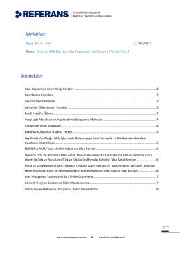 (2014-044 Vergi ve SGK Borçlarında Yapılandırma Kanunu (Torba
