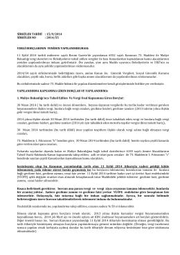 Sirküler 2014-055 - VERGİ BORÇLARININ YENİDEN