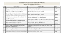 Haziran Ayı Kitap Önerisi - Muş Alparslan Üniversitesi