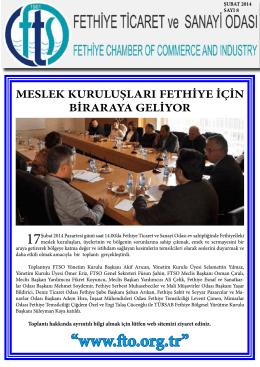 Sayı- 8 - Fethiye Ticaret ve Sanayi Odası