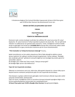 II.Uluslararası Boğaziçi Film Festivali Etkinlikleri