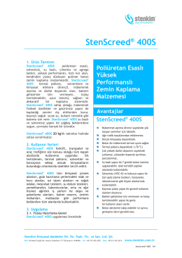 StenScreed® 400S - stenkim.com.tr