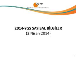 2014-YGS Sayısal Bilgiler - lys 2013 terci̇h klavuzu