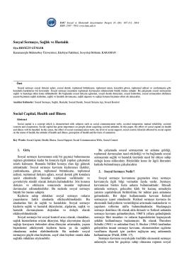Oya ERYİĞİT GÜNLER - KMÜ Sosyal ve Ekonomik Araştırmalar