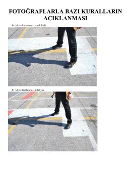 fotoğraflarla bazı kuralların açıklanması