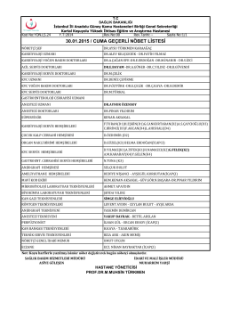 30 - Kartal Koşuyolu Yüksek İhtisas Eğitim ve Araştırma Hastanesi