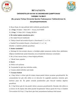 BEYAZ KUPA - Üniversite Sporları Federasyonu