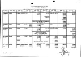 2014-2015 Eğitim-Öğretim Yılı Bahar Yarıyılı 1.,3. ve 5. Yarıyıl