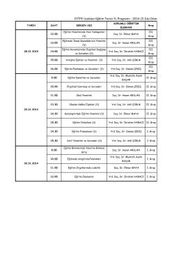 EYTPE Uzaktan Eğitim Tezsiz YL Programı - 2014