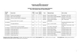 Yeniçağ Tarihi Yüksek Lisans Programı (Tezli)