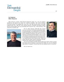 Acı Kaybımız Metin Özpoyraz Çesitli / Miscellaneous 65