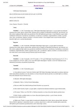 Resmî Gazete - Destek Hizmetleri Genel Müdürlüğü