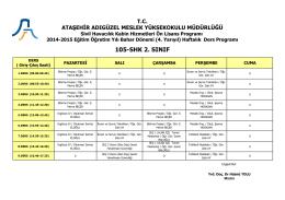 105-shk 2. sınıf - Ataşehir Adıgüzel Meslek Yüksekokulu