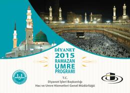 2015 Yılı Ramazan Ayı Umre Turları Belli Oldu