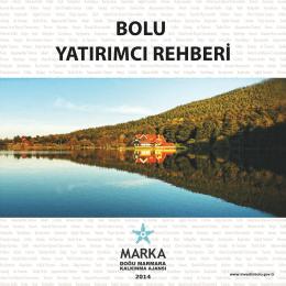 2014 Bolu Tanıtım Kitapçığı Türkçe