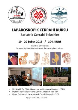 Bariatrik Cerrahi Kurs Programı