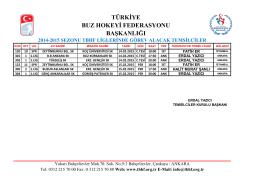 başkanlığı türkiye buz hokeyi federasyonu