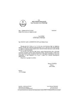 İnsan Kaynakları Genel Müdürlüğünün özür durumu yer değiştirme