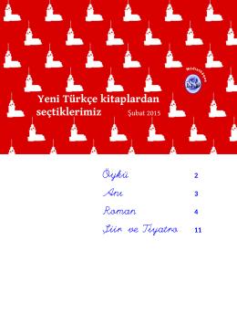 Yeni Türkçe kitaplardan seçtiklerimiz