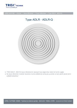 Type ADLR · ADLR-Q