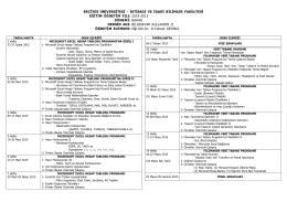 2014-2015 Bahar Dönemi Bilgisayar Kullanımı II Dersi Haftalık Ders