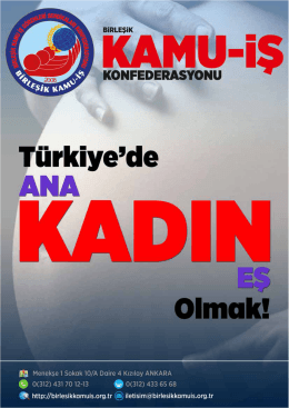`Türkiye`de Ana, Kadın, Eş Olmak` adlı Broşürümüzü bilgisayarınıza