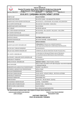 25.02.2015 - Kartal Koşuyolu Yüksek İhtisas Eğitim ve Araştırma