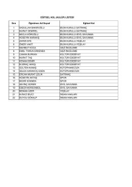 öğretmen eğitsel kol listesi