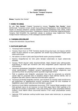 """1 / 4 VAKIF EMEKLİLİK 3. """"Sarı Kareler"""" Fotoğraf Yarışması"""