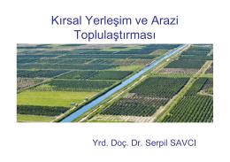 Kırsal Yerleşim ve Arazi Toplulaştırması