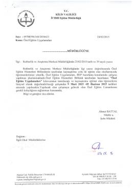 """ya* """"Râ KİLİS vALiLiĞi - Kilis Milli Eğitim Müdürlüğü"""