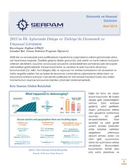 2015`in İlk Aylarında Dünya ve Türkiye`de Ekonomik ve Finansal