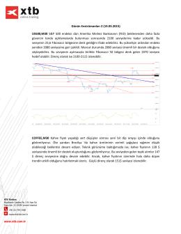 Günün Enstrümanları 2 (19.03.2015) US500,M30 S&P 500