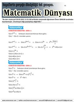 """""""Bu ders materyali 20.03.2015 11:31:38 tarihinde"""
