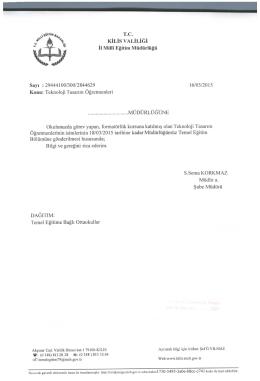 """t` """"i - Kilis Milli Eğitim Müdürlüğü"""