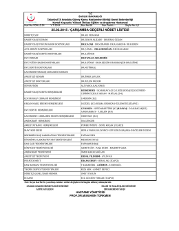 25.03.2015 - Kartal Koşuyolu Yüksek İhtisas Eğitim ve Araştırma