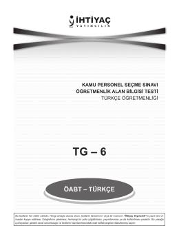Türkçe 6 - İhtiyaç Yayıncılık