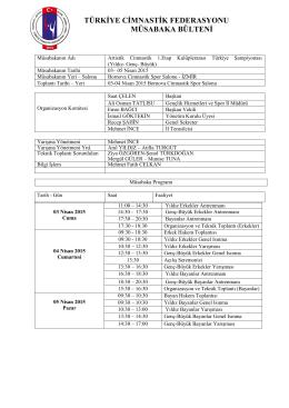içerik - Türkiye Cimnastik Federasyonu