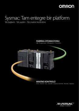 Sysmac: Tam entegre bir platform