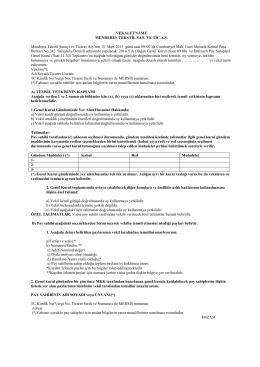 2014 Yılı Vekaleten Oy Kullanma Formu