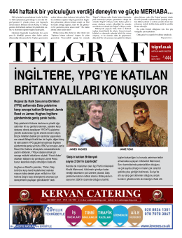 İNGİLTERE, YPG`YE KATILAN