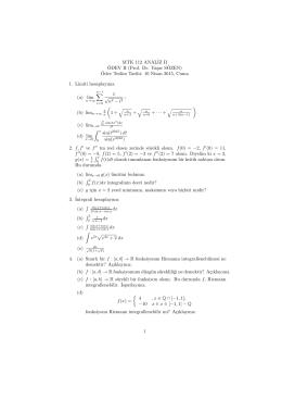 dersi - Ödev II