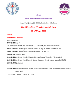Akan Hücre Ölçer (Flow Cytometry) Kursu 16-17 Mayıs 2015