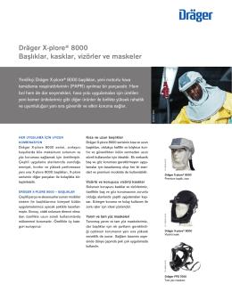 Dräger X-plore® 8000 Başlıklar, kasklar, vizörler ve maskeler