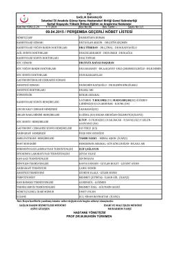 0 - Kartal Koşuyolu Yüksek İhtisas Eğitim ve Araştırma Hastanesi