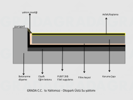 Teras ve Otopark Üstü Su Yalıtımı
