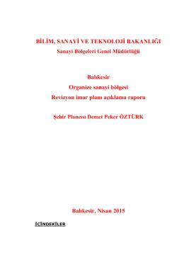 BALIKESİR ORGANİZE SANAYİ BÖLGESİ